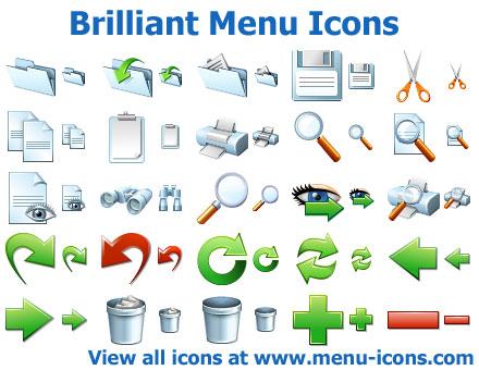Brilliant Menu Icons Screenshot