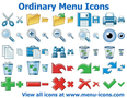 Ordinary Menu Icons 1