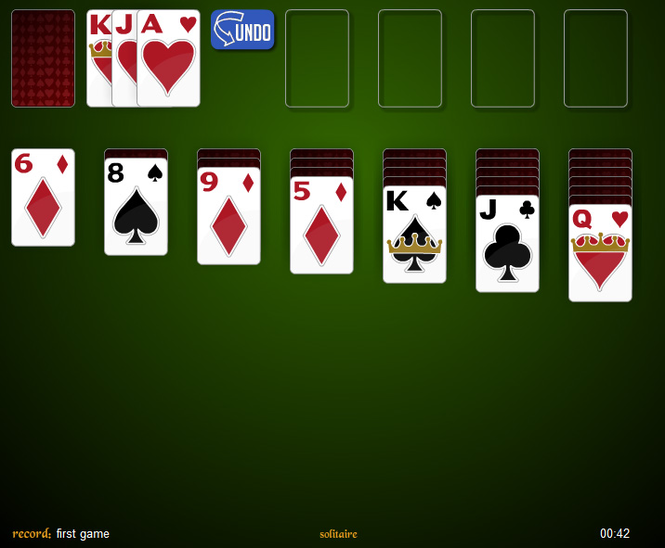 play klondike solitaire 3 card turn