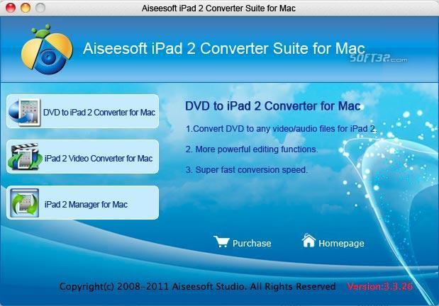 Aiseesoft iPad 2 Converter Suite for Mac Screenshot 2