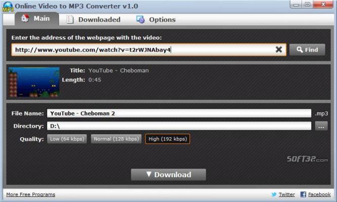 Online Video to MP3 Converter Screenshot 3