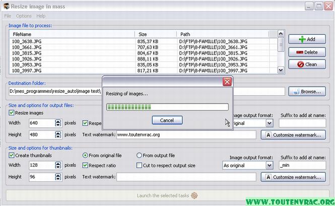 Redimensionneur Screenshot 1