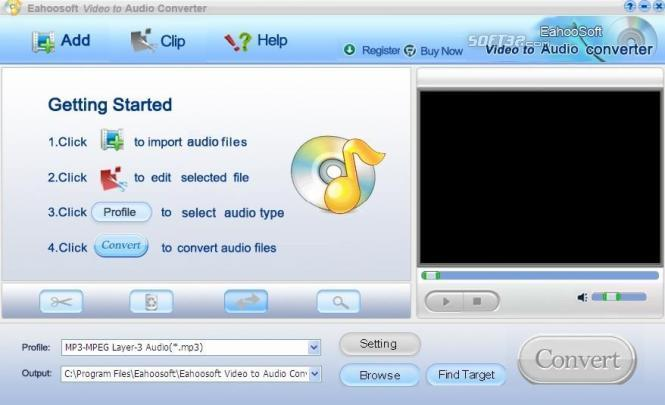 Eahoosoft Video to Audio Converter Screenshot 2