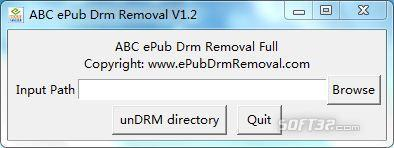 ABC ePub Drm Removal Screenshot 2