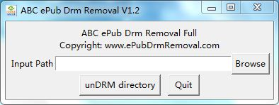 ABC ePub Drm Removal Screenshot