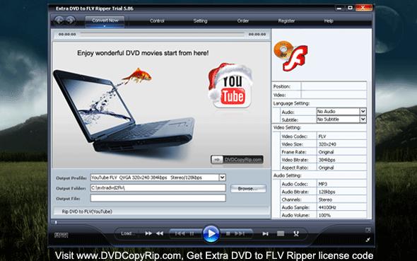 Extra DVD to FLV Ripper Screenshot 1