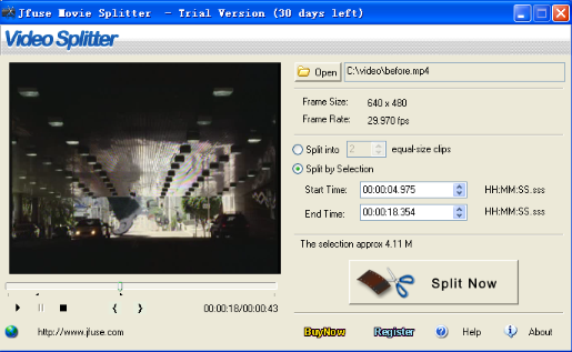 Jfuse Movie Splitter Screenshot