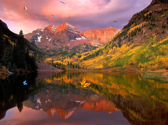 Wonderful Lake Mountain Screensaver Screenshot