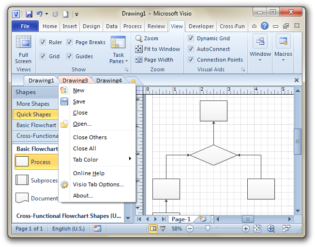 Office Tabs for Visio (x64) Screenshot