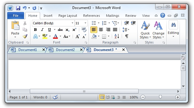 Office Tab Free Edition Screenshot