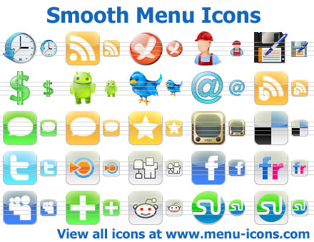 Smooth Menu Icons Screenshot
