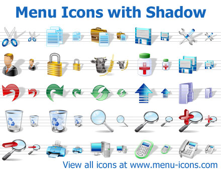 Menu Icons with Shadow Screenshot