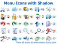 Menu Icons with Shadow 3