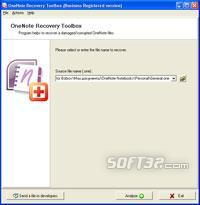 OneNote Recovery Toolbox Screenshot 2
