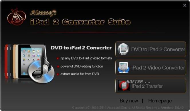 Aiseesoft iPad 2 Converter Suite Screenshot 2