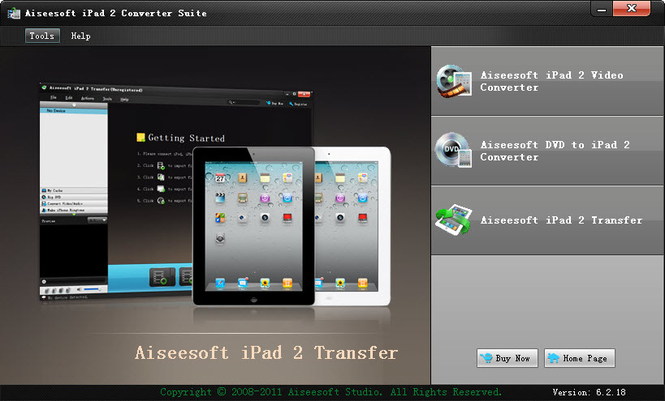Aiseesoft iPad 2 Converter Suite Screenshot