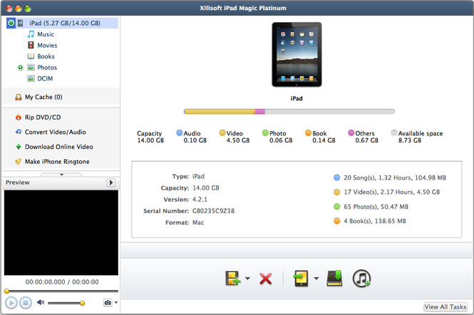 Xilisoft iPad Magic Platinum for Mac Screenshot