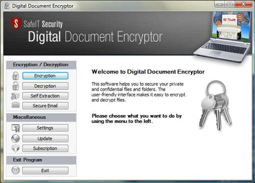 Digital Document Encryptor Screenshot 1
