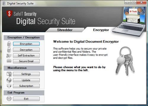 Digital Security Suite Screenshot 1