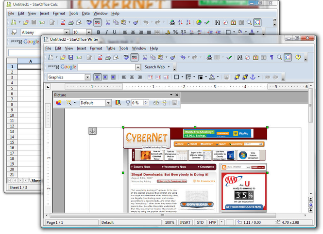 StarOffice Screenshot 1