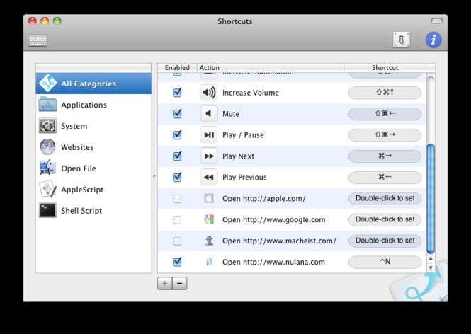 Shortcuts Screenshot 1