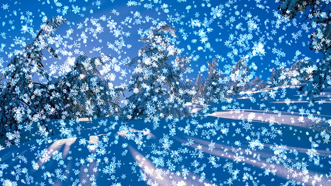 Animated Wallpaper: Snowy Desktop 3D Screenshot
