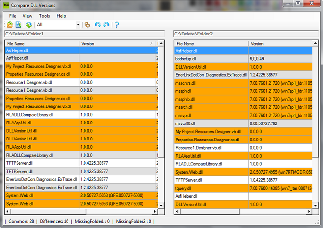 DLL Version Compare Screenshot 1