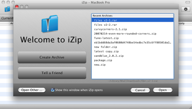 iZip Screenshot 1