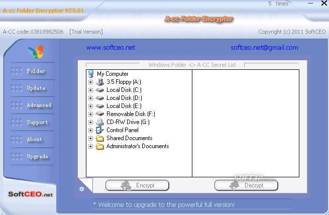 A-cc Folder Encryptor Screenshot 2
