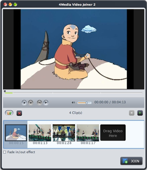 4Media Video Joiner for Mac Screenshot