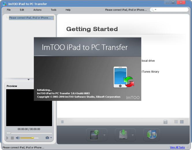ImTOO iPad to PC Transfer Screenshot