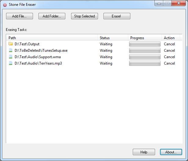 Stone File Eraser Screenshot 1