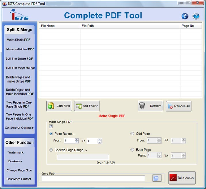 Merge Multiple PDF Files Screenshot
