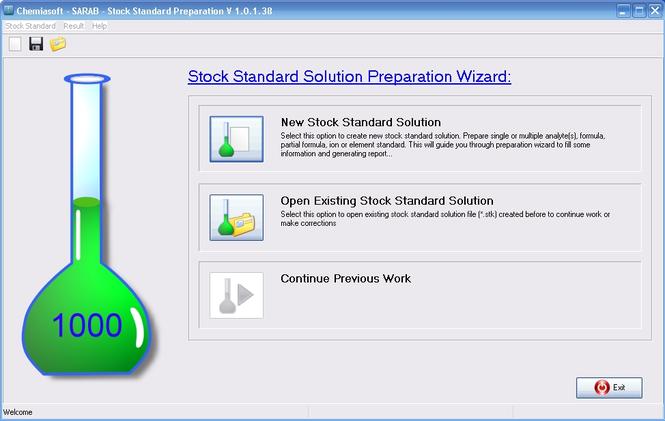 Stock Standard Preparation Calculator Screenshot
