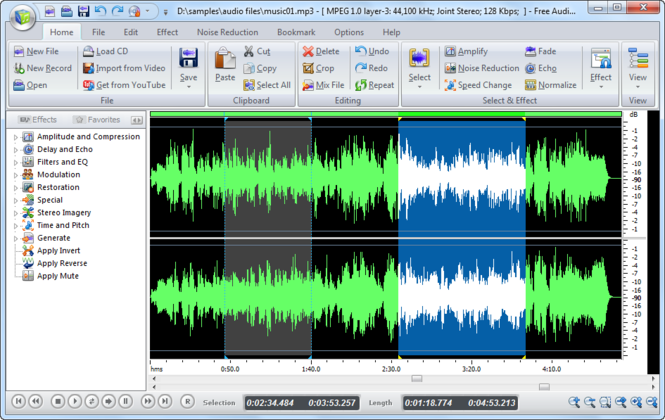 All Free Audio Editor Screenshot