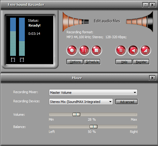 All Free Sound Recorder Screenshot 1