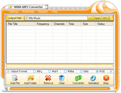 iovSoft Free WMA MP3 Converter Screenshot