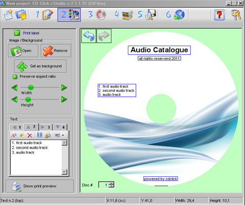 CDClick i-Studio Screenshot