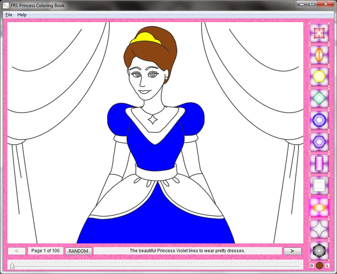 FRS Princess Coloring Book Screenshot