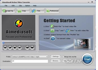 Aimediasoft Archos Video Converter Screenshot 2