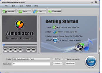 Aimediasoft Audio Converter Screenshot