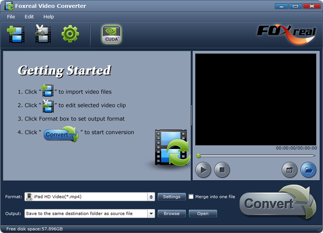 Foxreal Video Converter Screenshot