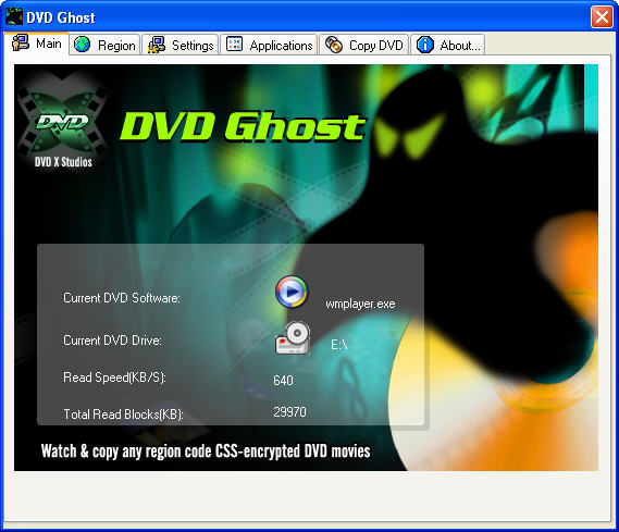 DVD Ghost Screenshot