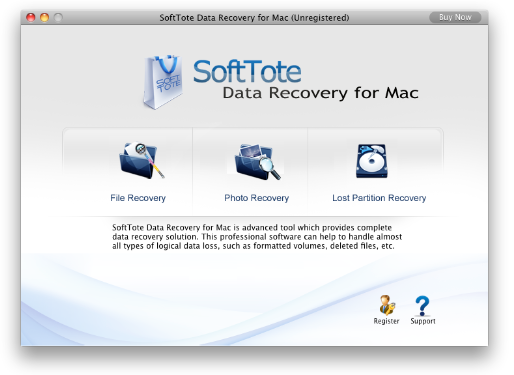Softtote Data Recovery Software for Mac Screenshot 2