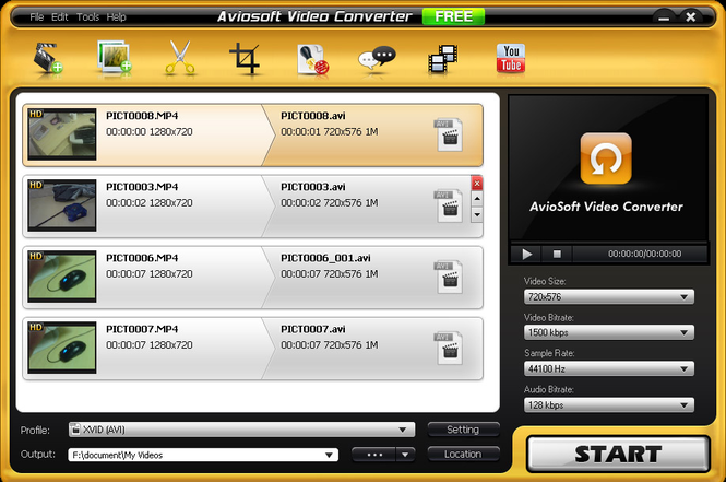 Aviosoft Video Converter Free Screenshot 1