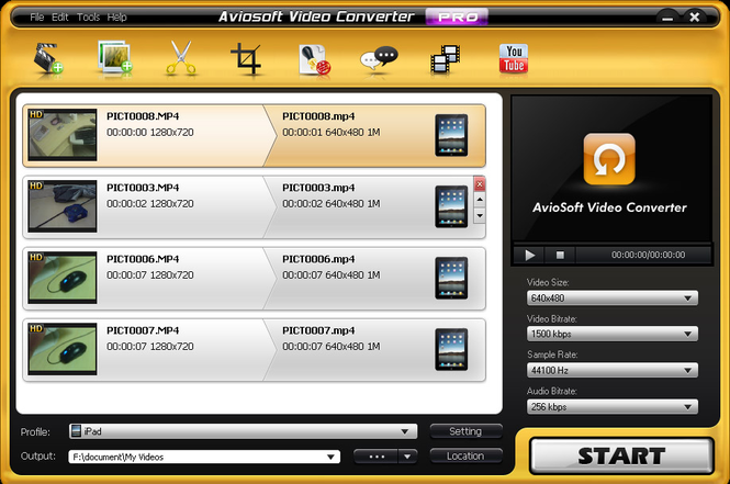Aviosoft Video Converter Professional Screenshot