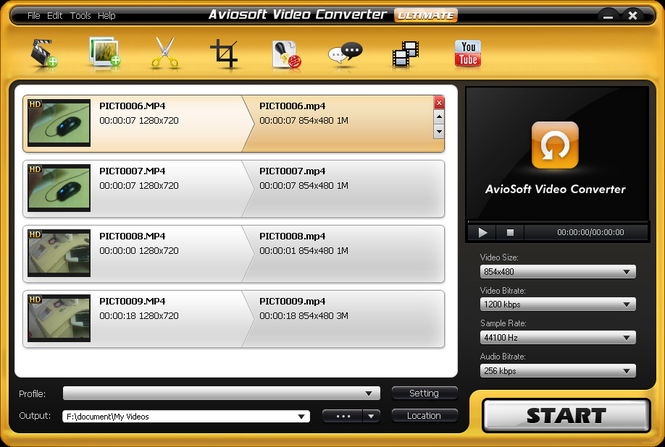 Aviosoft Video Converter Ultimate Screenshot