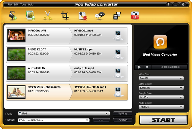 Aviosoft iPod Video Converter Screenshot