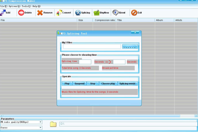 Mp3 Compression Maker Screenshot