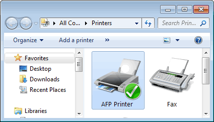 AFP Printer Screenshot